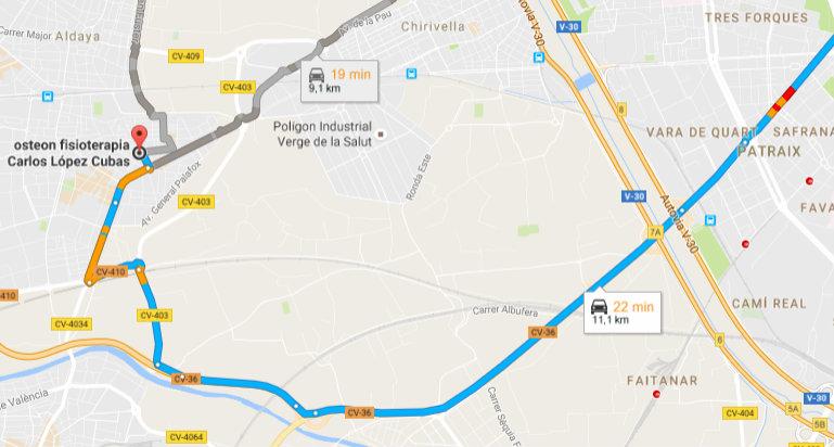 mapa osteon Valencia V30