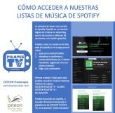 crear cuenta spotify listas de música osteon pilates tv