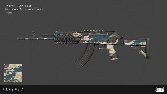 PUBG_Weapon-Skins-Military-Mercenary_Beryl_Final