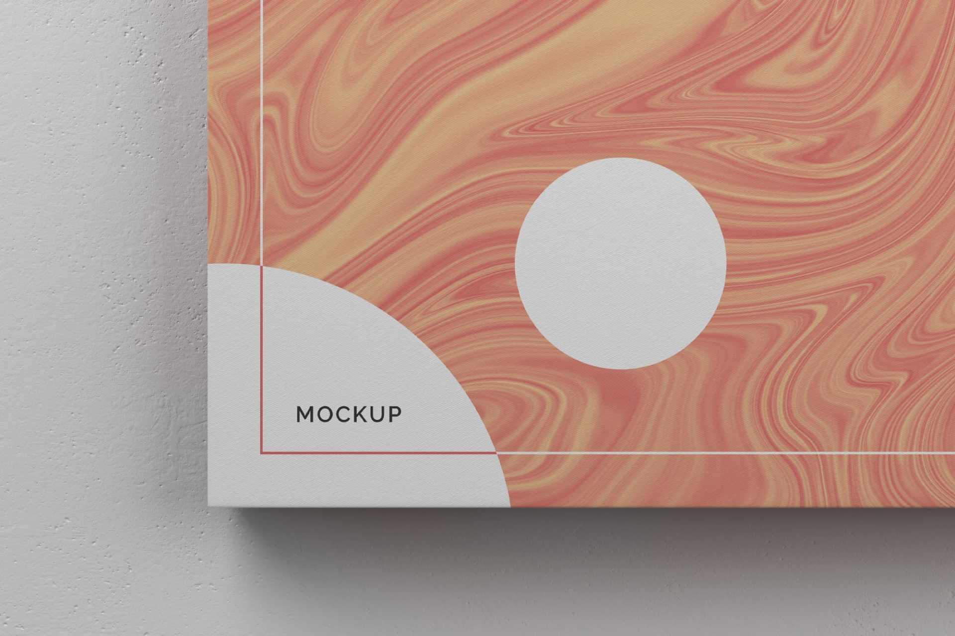 Landscape Canvas Ratio 5:4 Mockup for Photoshop