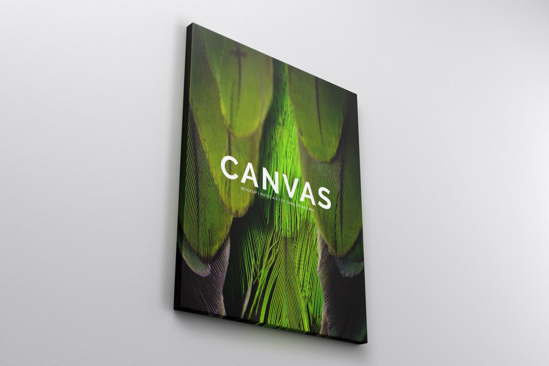 Landscape Canvas Ratio 4x5 Mockup 03