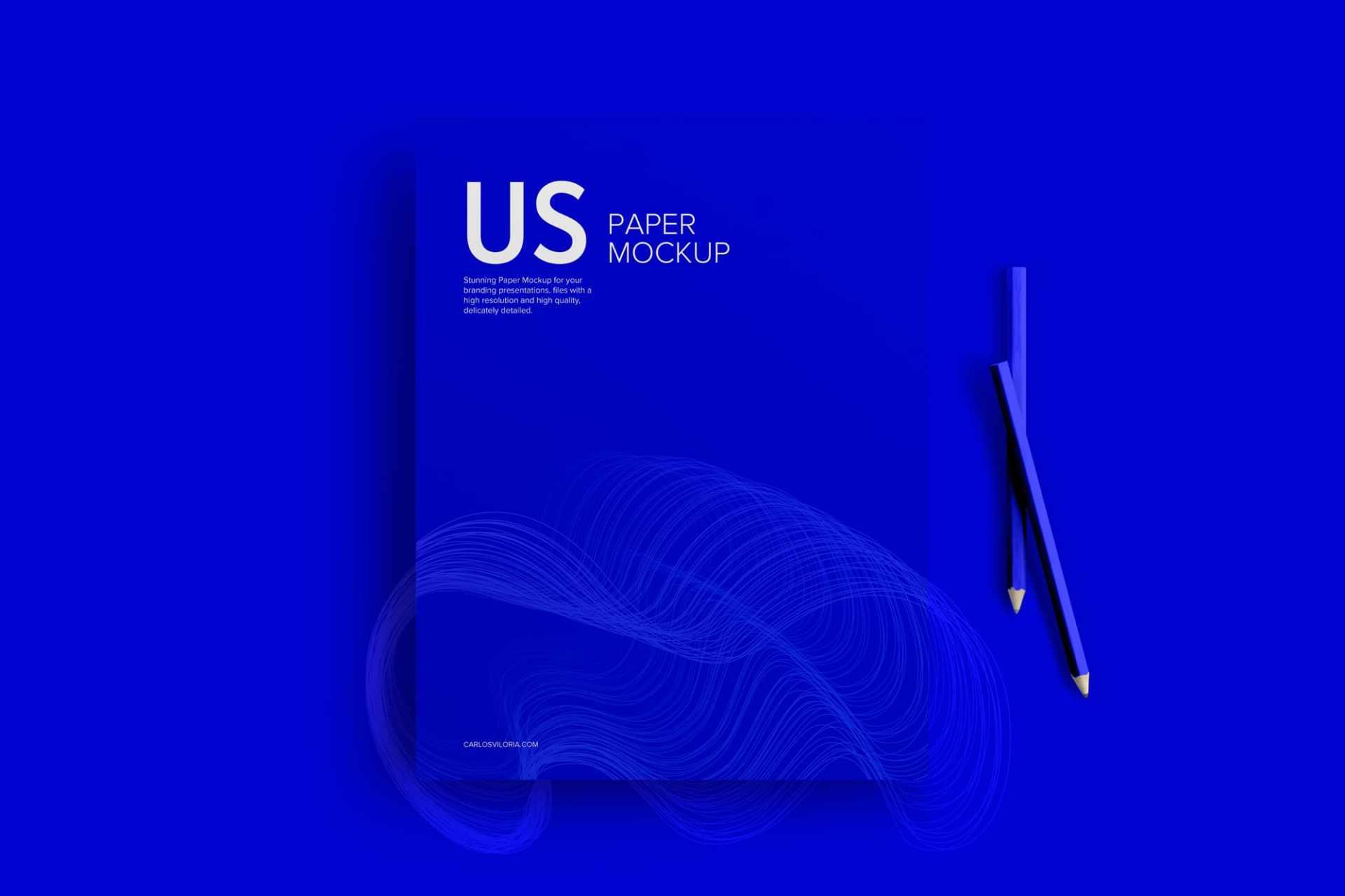 Simple US Letter Mockup for Stationery
