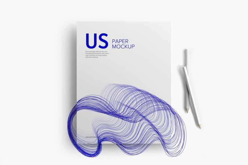 US Letter Paper Mockup 01