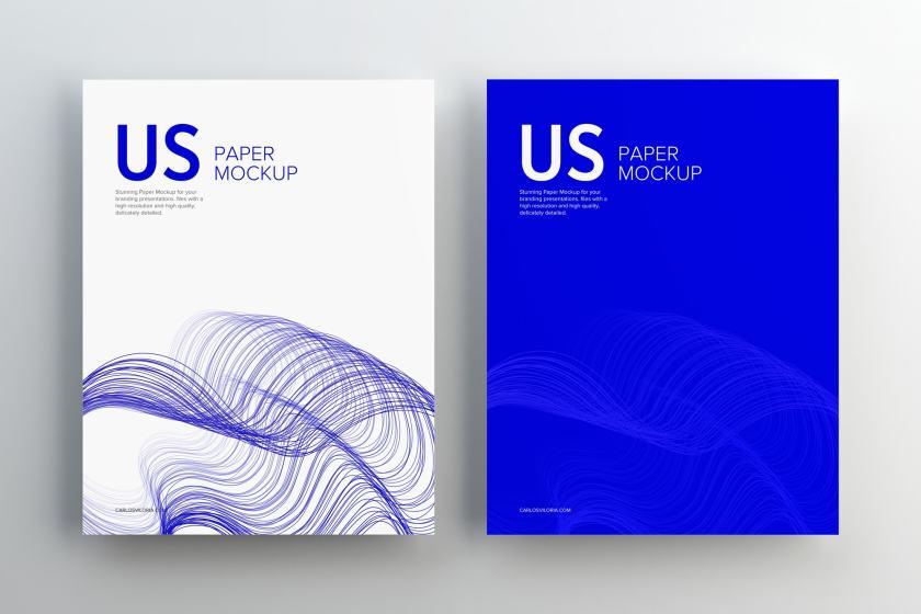 US Letter Paper Mockup 02