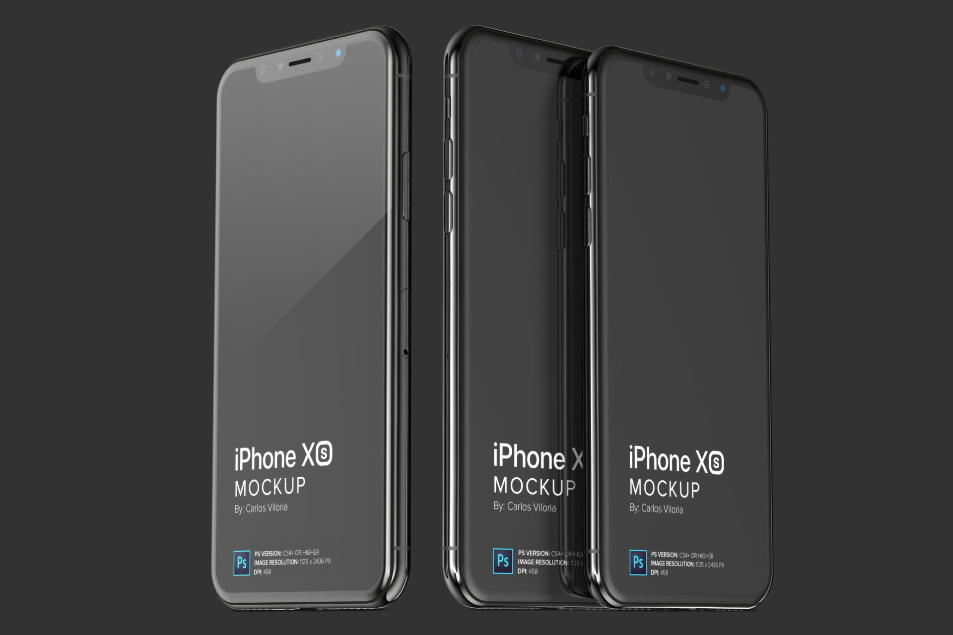 iPhone XS Mockup for iOS Apps Design