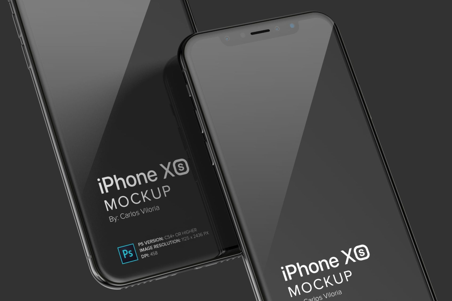 iPhone XS Mockup to Showcase Mobile Aplications