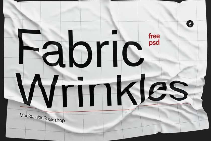 Fabric Wrinkles Mockup