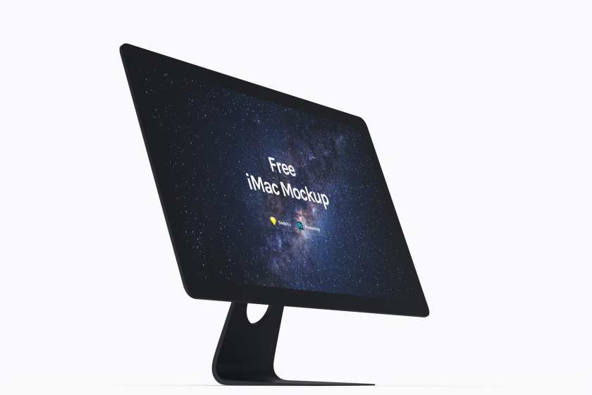 Free Apple iMac Mockup