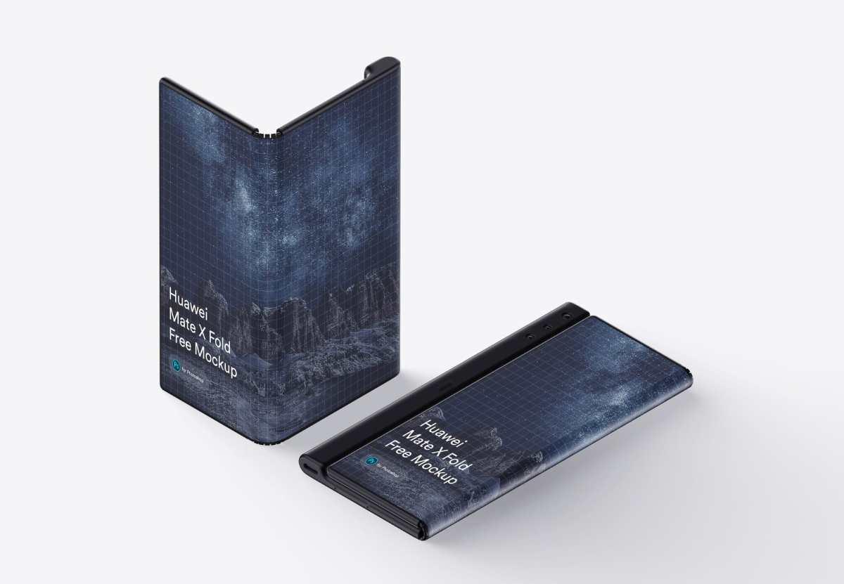 Free Huawei Mate X (Fold) Mockup