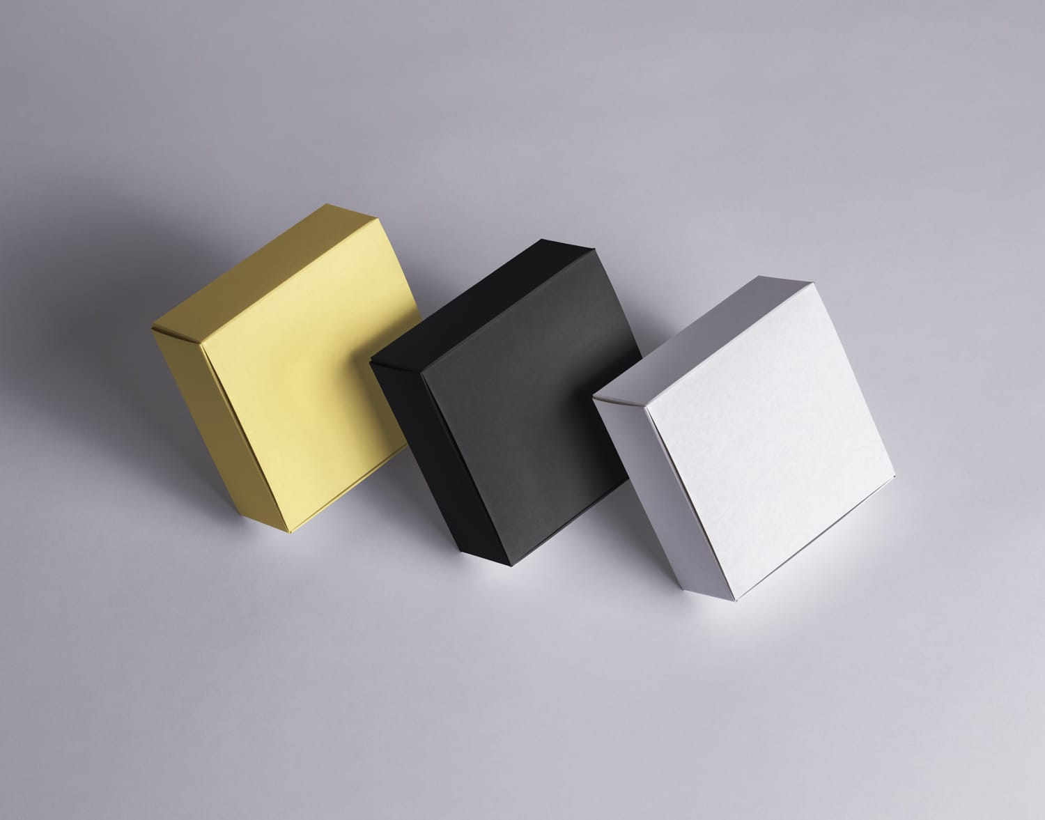 Free Square Boxes Packaging Mockup