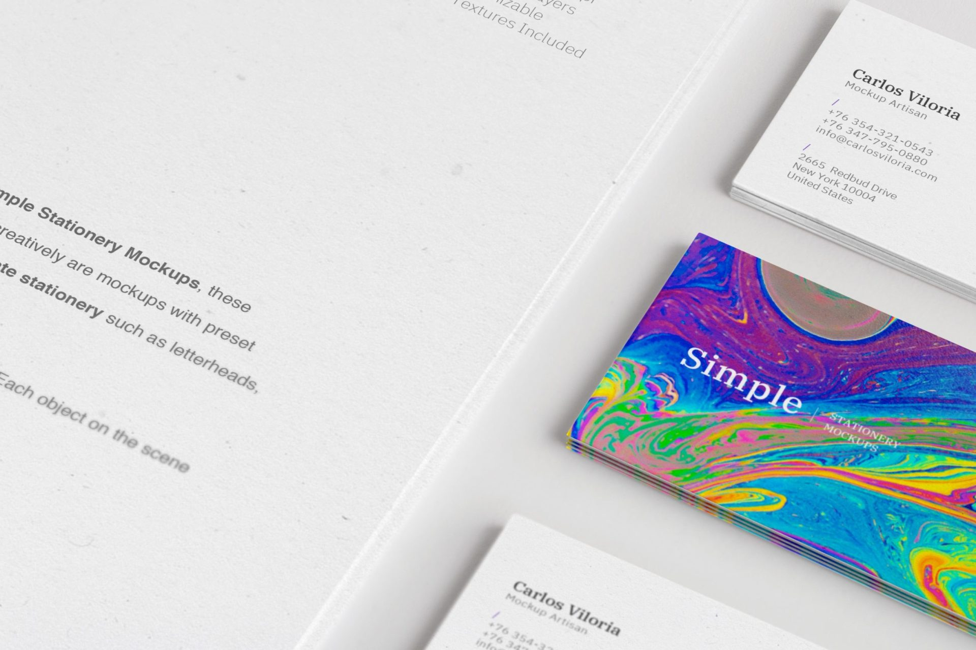 A4 and Business Cards Mockup 03