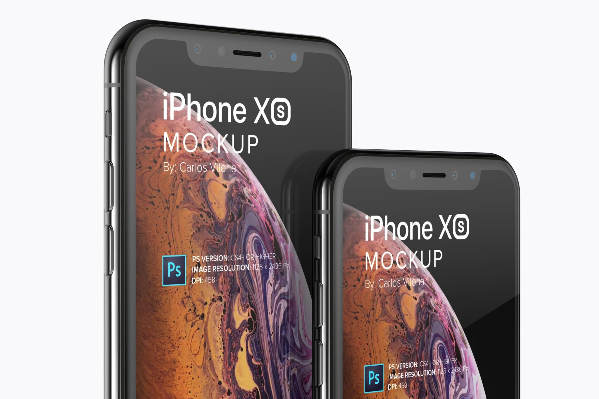 iPhone XS Mockup for App and UI Design