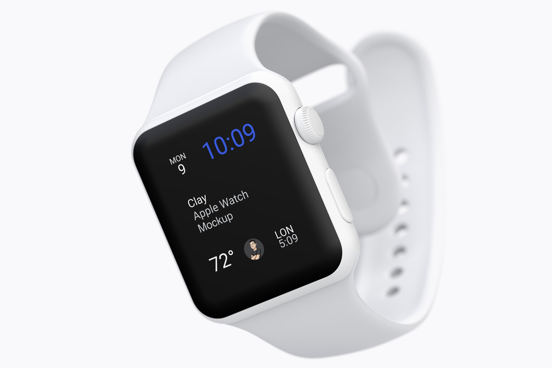 Clay Apple Watch Mockup to present WatchOS Apps