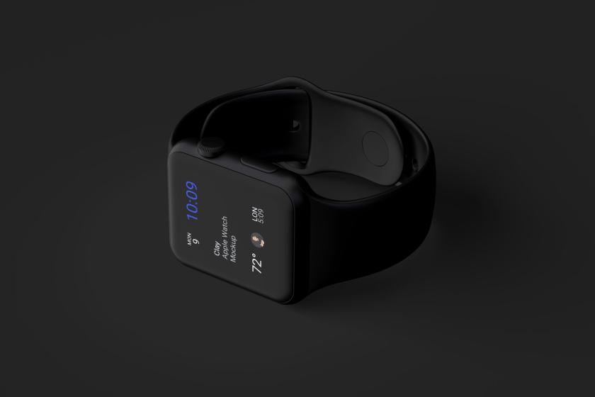 Clay Apple Watch Mockup 03