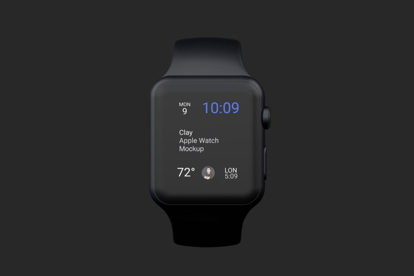 Clay Apple Watch Mockup 04