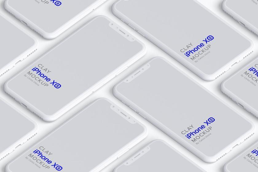 Clay iPhone XS Mockup 02