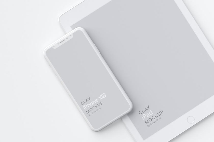 Clay iPhone XS Mockup 08