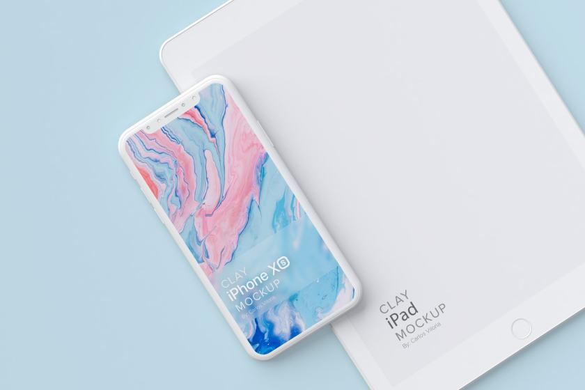 Clay iPhone XS Mockup 08