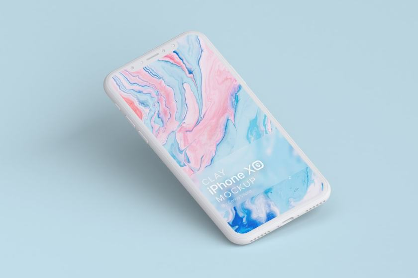 Clay iPhone XS Mockup 01