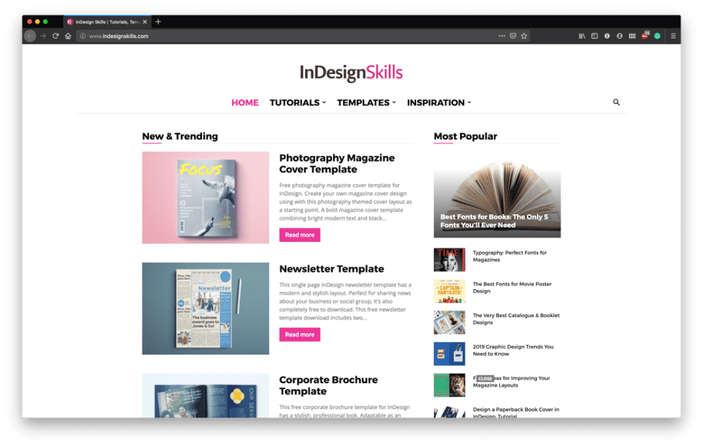 Free InDesign Template Sites - Indesign Skills