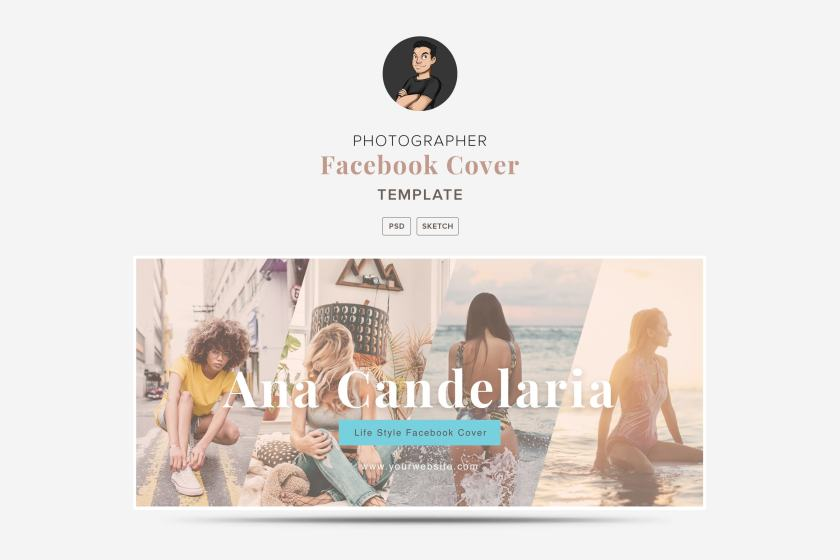 Creatives Facebook Cover Template 04 for Photographers