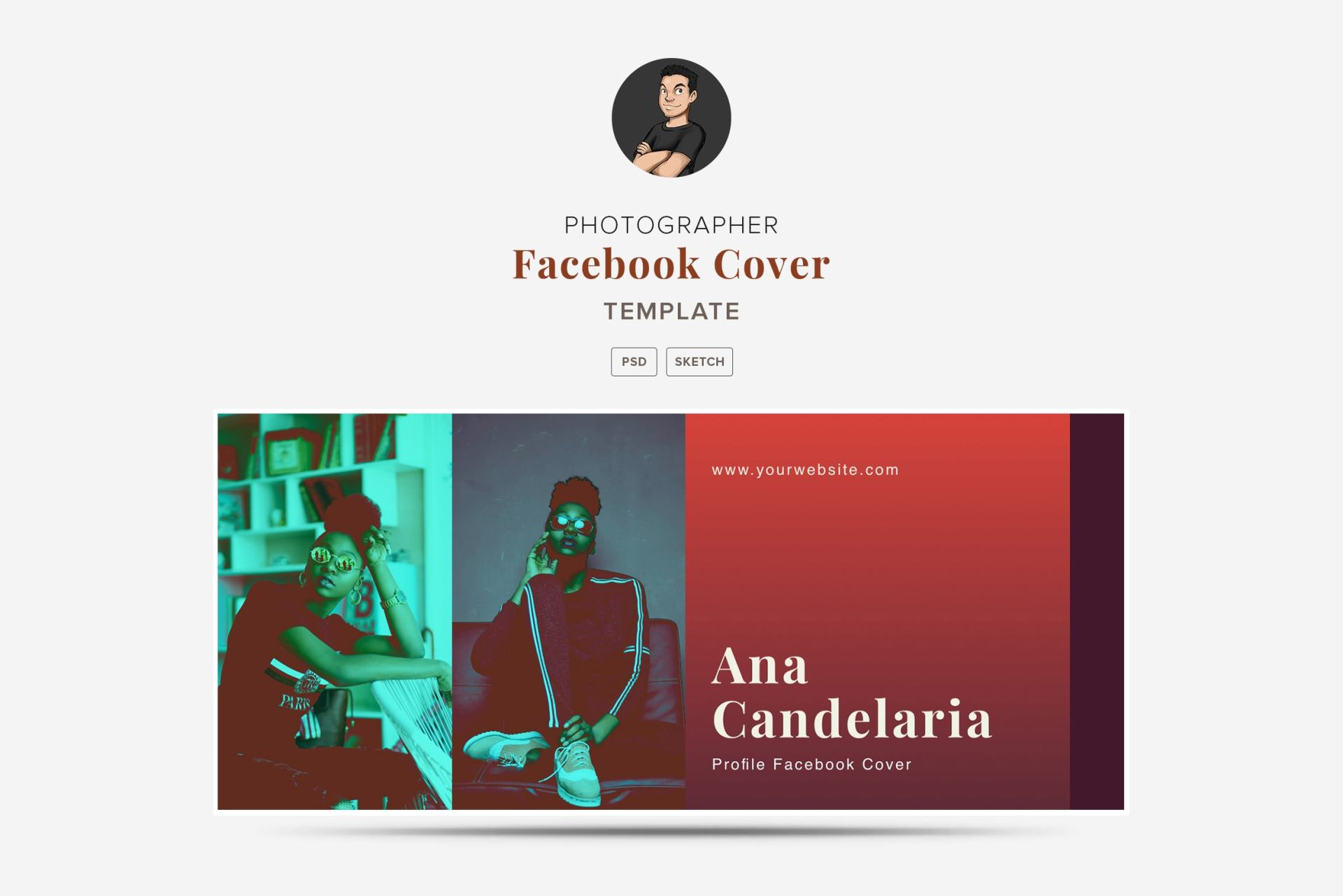 Photographer Facebook Cover Template