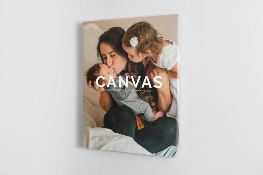 Portrait Canvas Ratio 3×4 Mockup 02