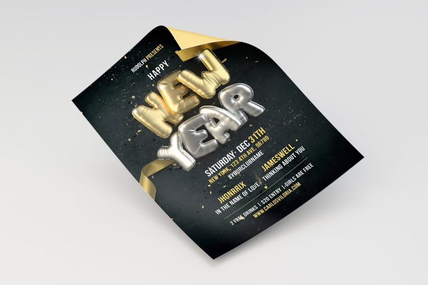 New Year Flyer – Poster Template 02