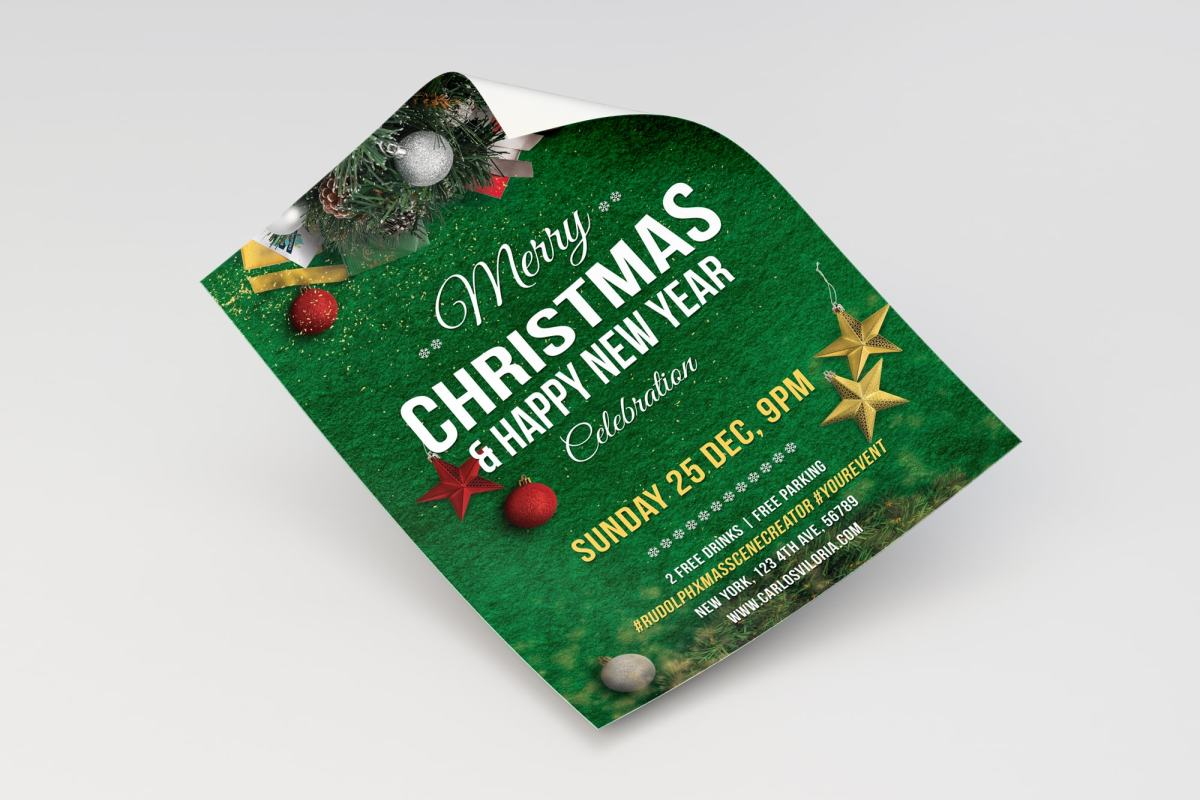 Merry Christmas Flyer - Poster Template 02