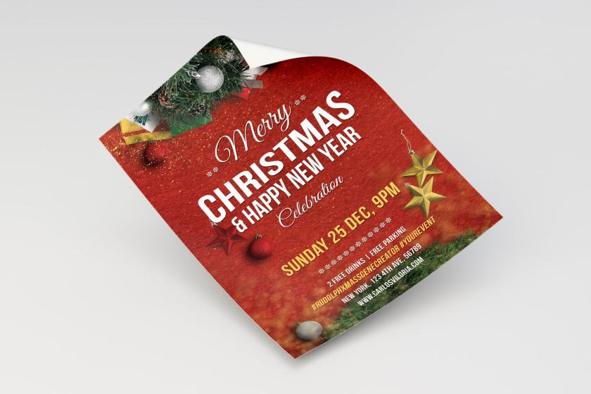 Merry Christmas Flyer – Poster Template 02