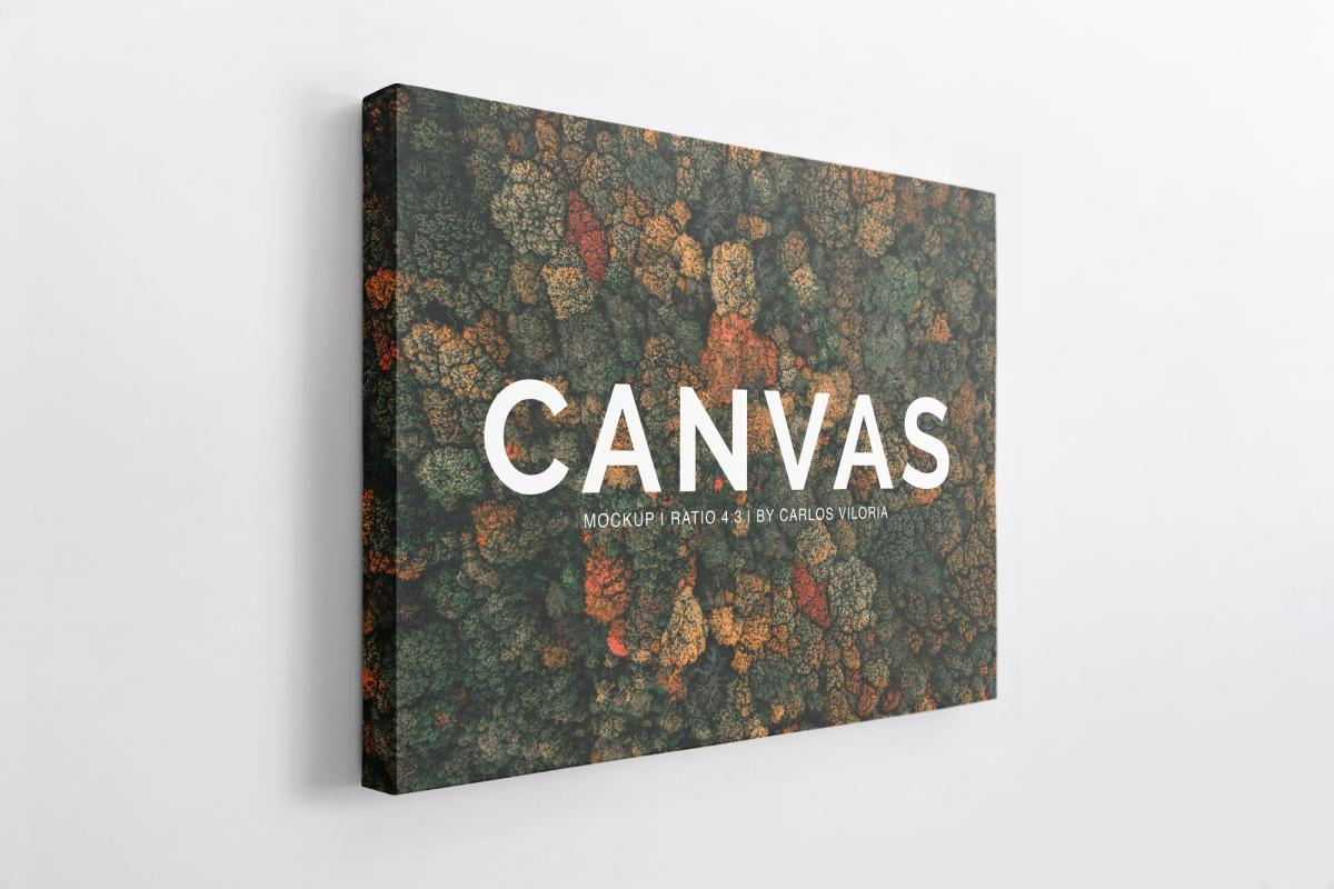 Canvas Mockups Bundle - Canvas Ratio 4x3 Mockup 04