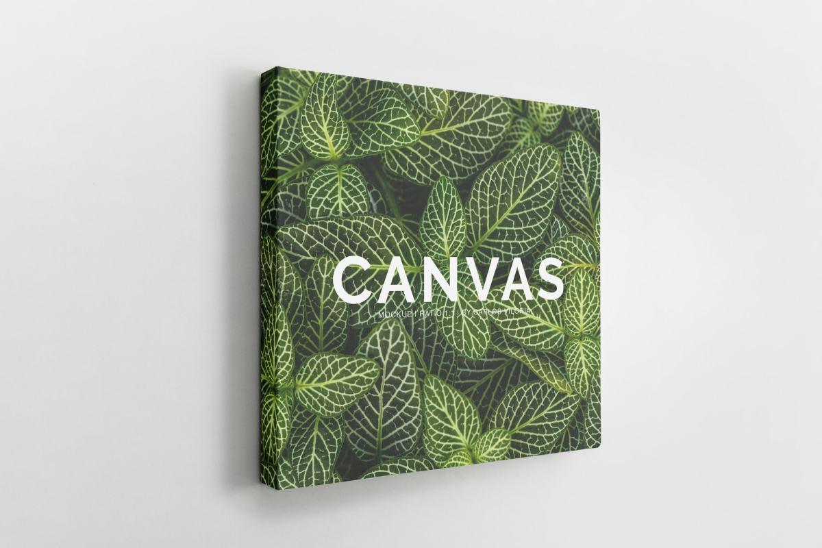 canvas mockups bundle - Square Canvas Ratio 1x1 Mockup 02