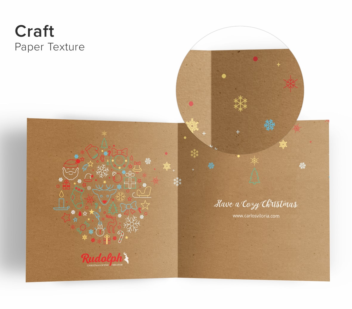 Square Greetings Card 5x5 Mockup 01