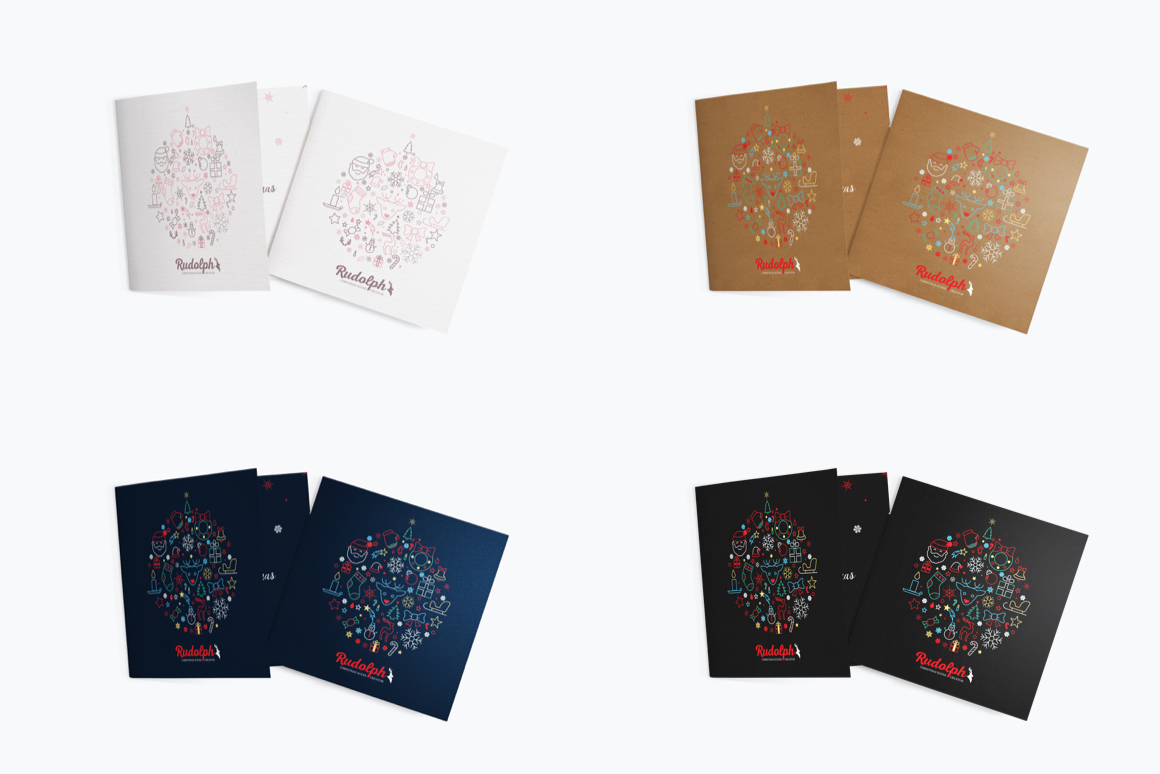 Christmas Greetings Card Mockup Template