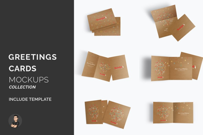 Greetings Card Mockups Pack
