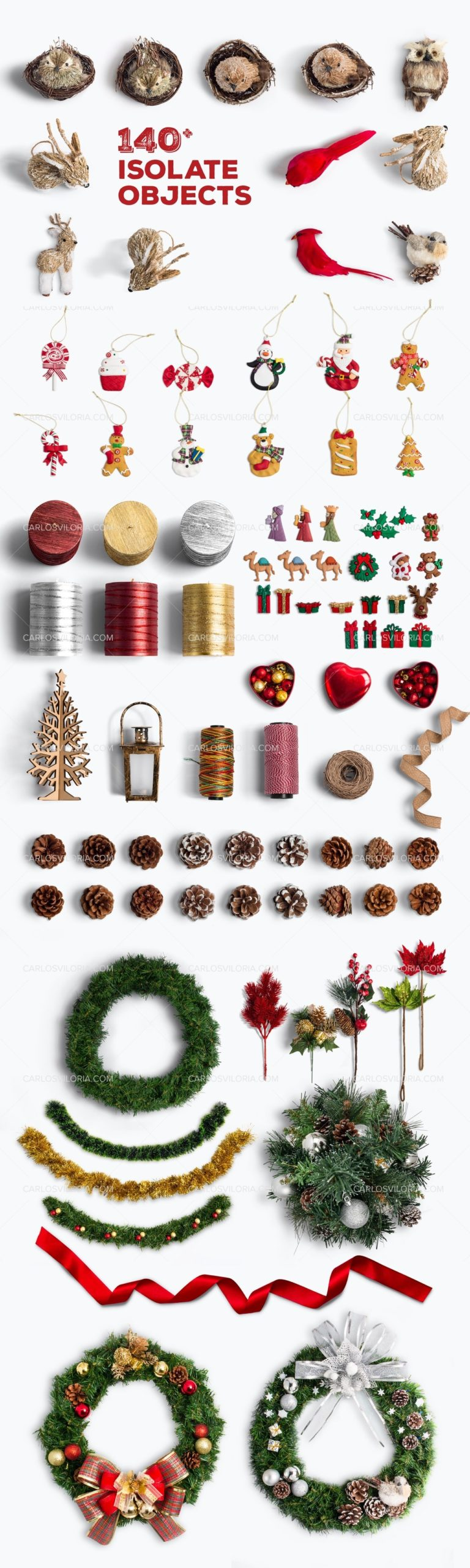 Isolated Christmas Objects by Carlos Viloria