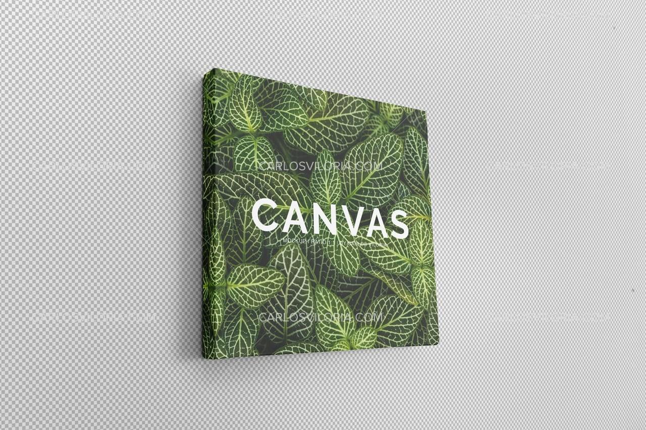 Photo Square Canvas Mockup