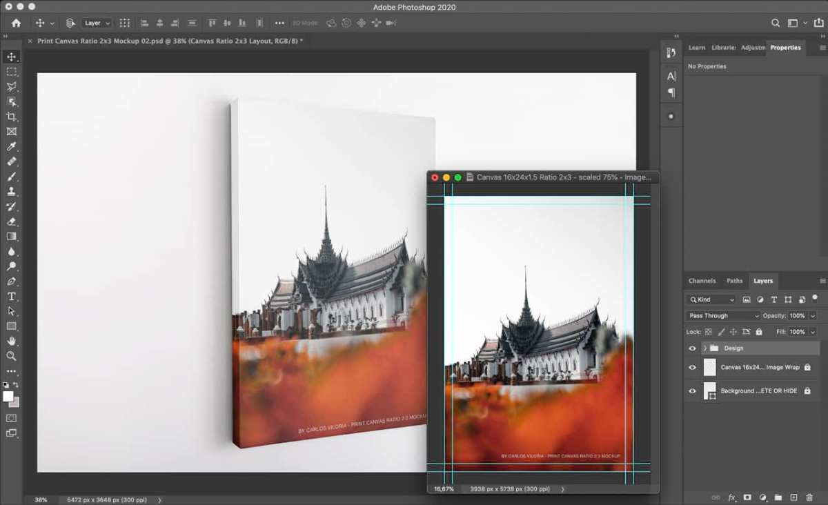 Portrait Canvas Mockup