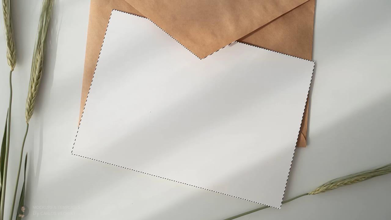Create A7 Envelope Mockup from Free Stock Image