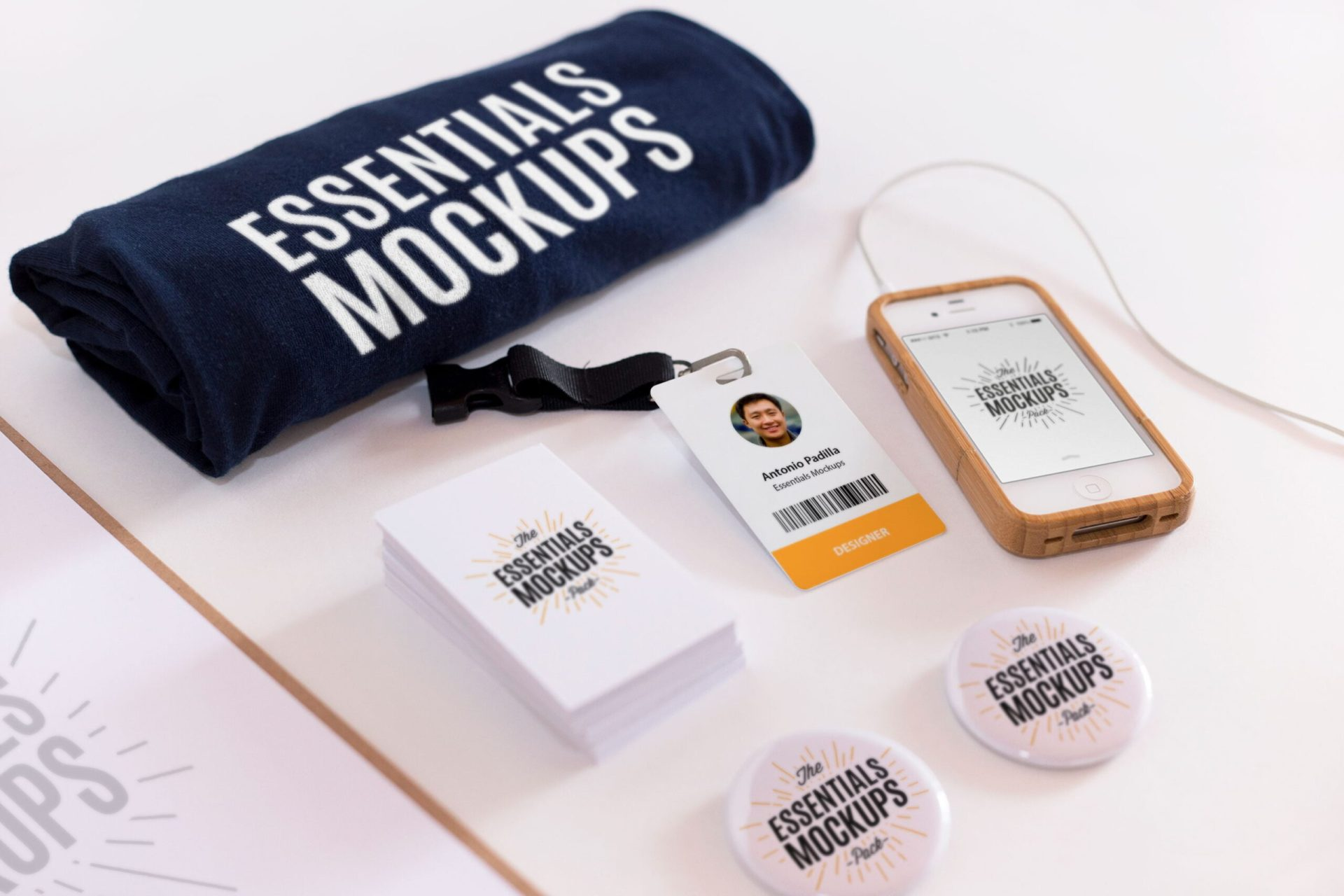Free Essentials Mockups Set