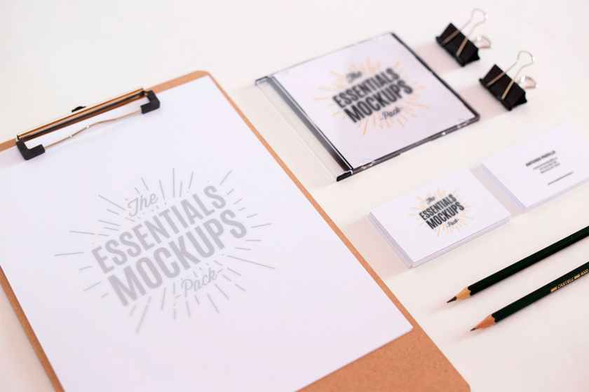 Free Essentials Mockups Set