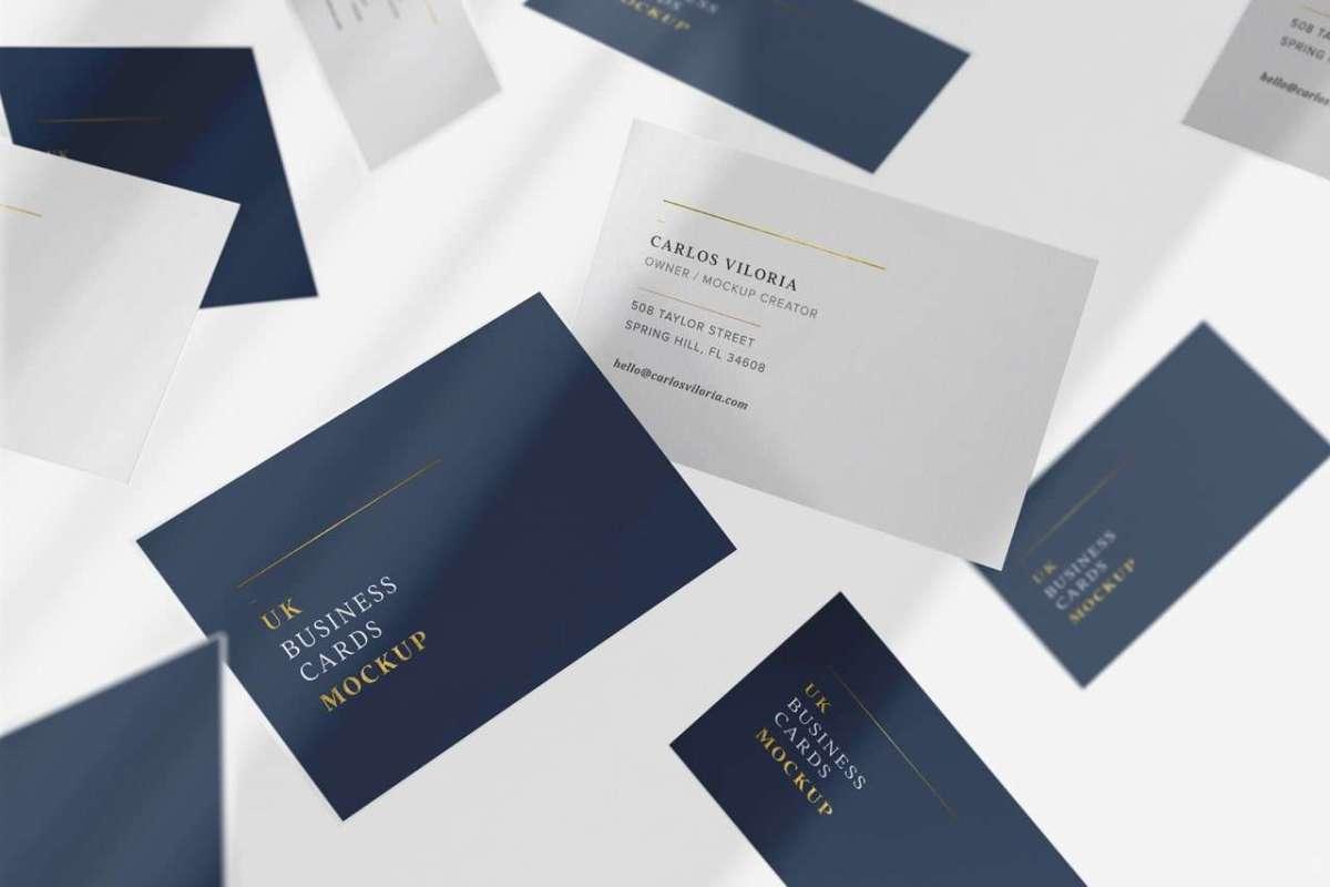 Flying UK Business Cards Mockup