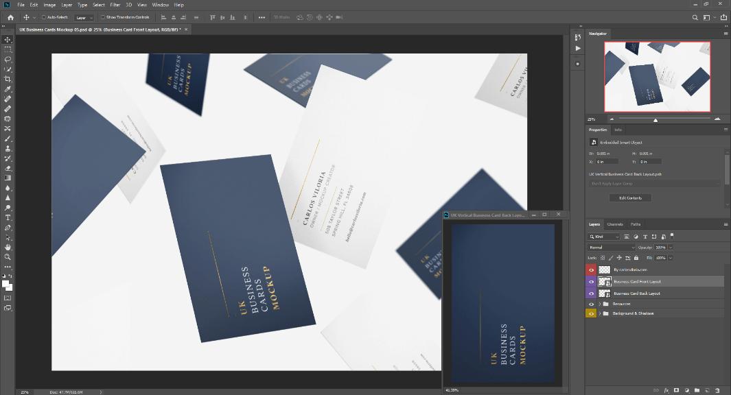 Photoshop VerticalVertical Visit Card