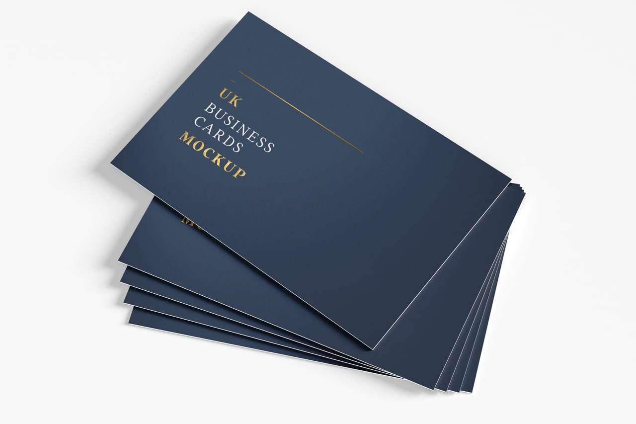 Stack UK Business cards mockup