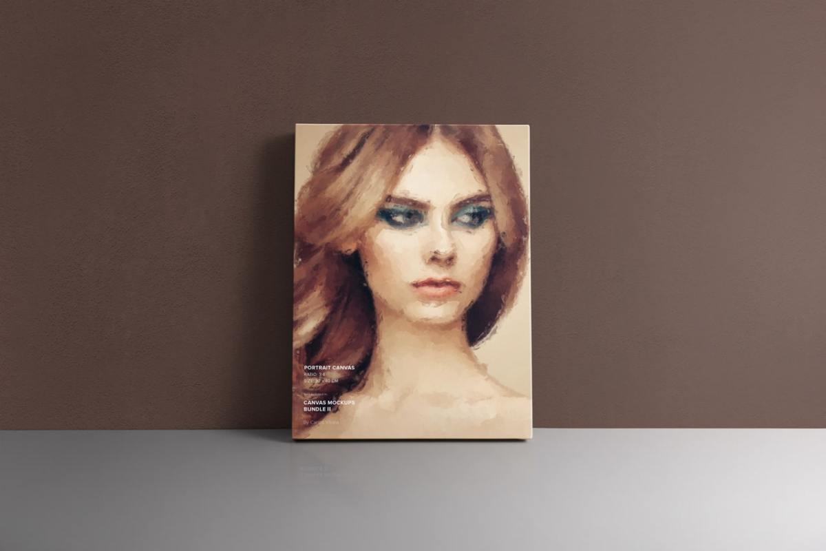 Portrait Frame Canvas Ratio 3x4 Mockup
