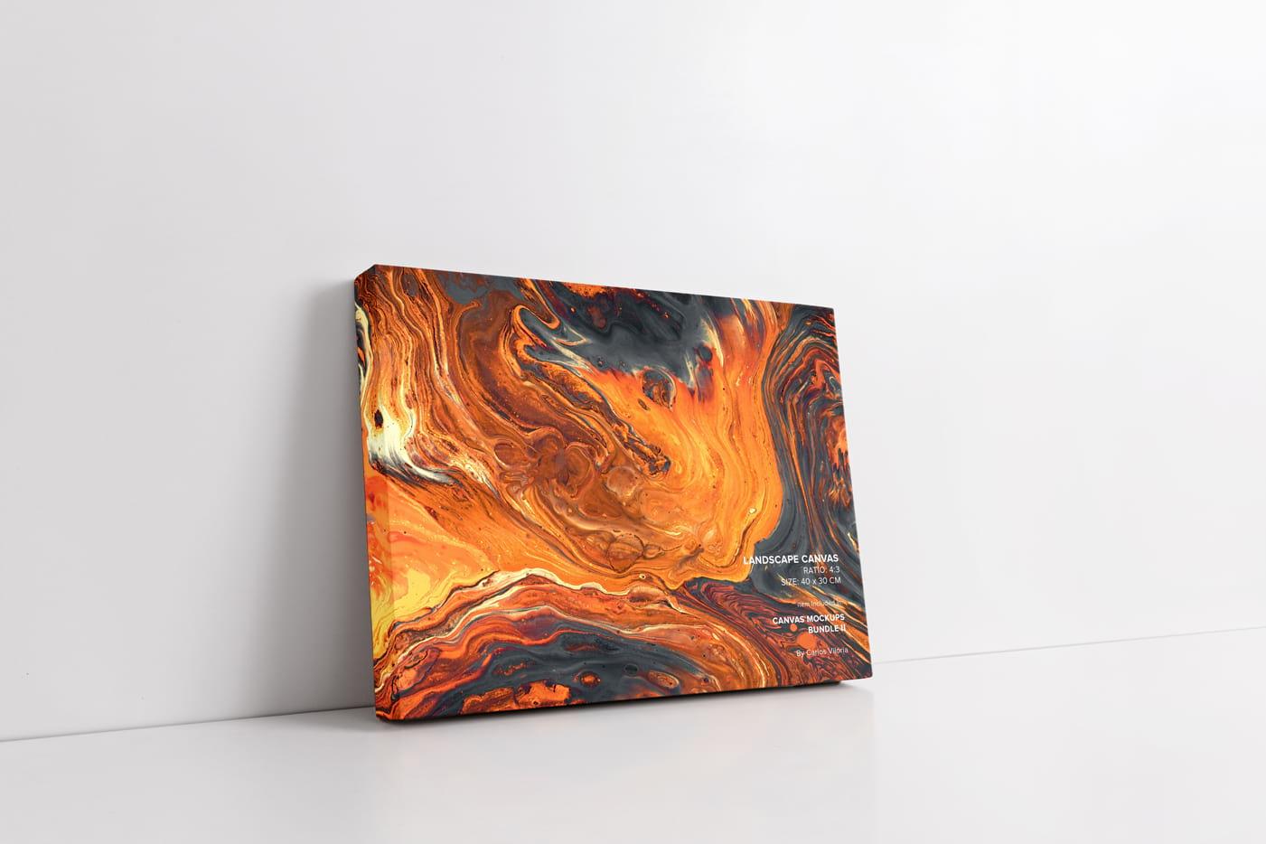 Thick Side Landscape Canvas Mockup