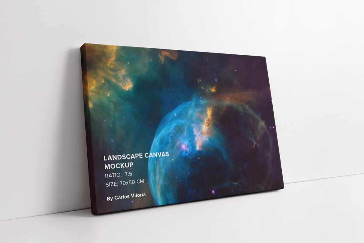 Large Lamdscape Canvas Mockup