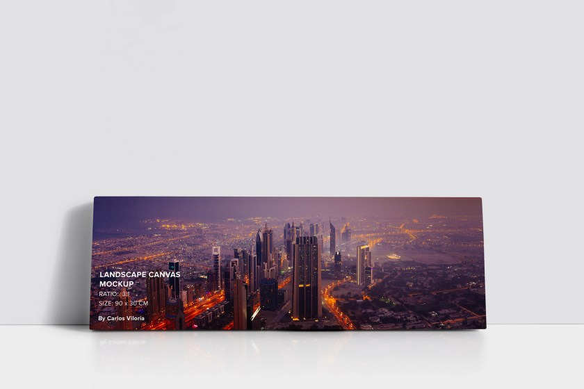 art-wall-Landscape Canvas Ratio 3×1 Mockup 01-by-carlosviloria.com
