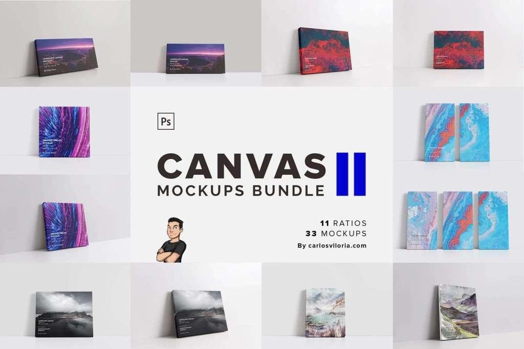 Canvas Mockups Bundle 2 by Carlos Viloria