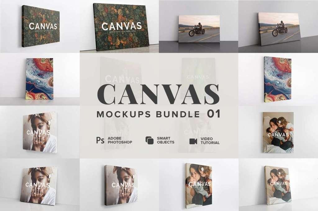 Canvas Mockups Bundle by Carlos Viloria